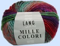 pelote de 50g 92m aig n6070 echantillon 15mailles23rangs composition 50 laine 50 acrylique - Laine Lang Mille Colori