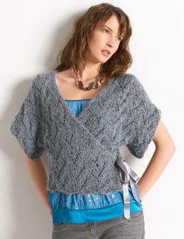 tricoter un cache coeur